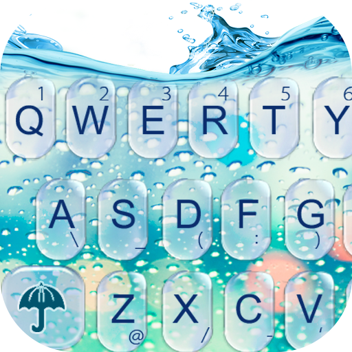 3D Blue Glass Water Keyboard Theme Download Latest Version APK