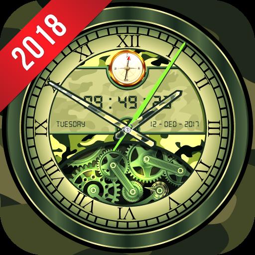 Army Clock Live Wallpaper 2018: Analog 3D Clock Download Latest Version APK