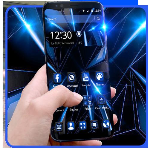 Black Blue Future Theme Download Latest Version APK