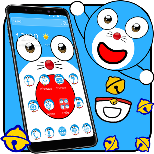 Blue Cute Cat Cartoon Theme Download Latest Version APK