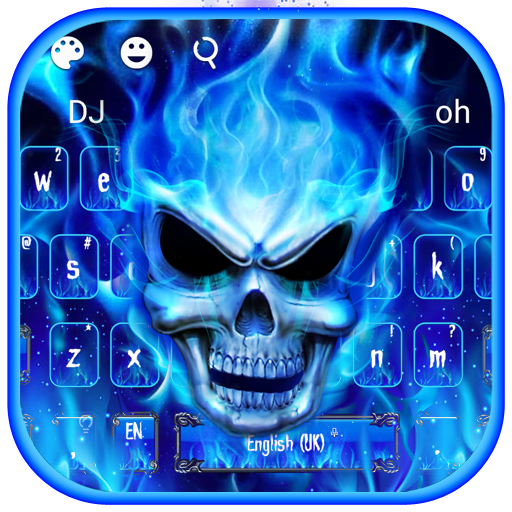 Blue Fire Flaming Skull Keyboard Download Latest Version APK   APK
