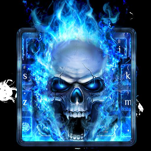 Blue Fire Skull Keyboard Download Latest Version APK