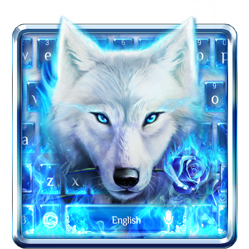 Blue Fire Wolf Keyboard Theme Download Latest Version APK