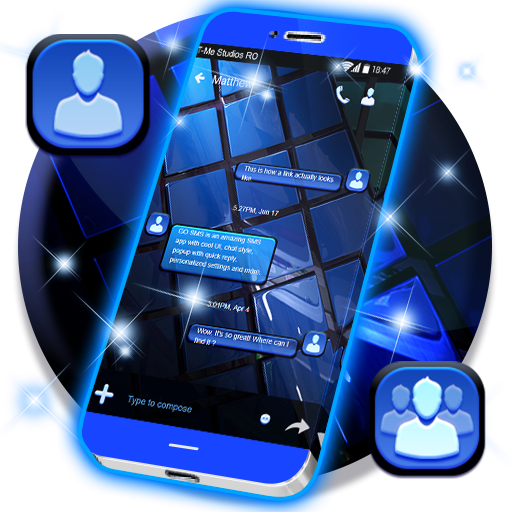 Blue SMS Theme 2018 Download Latest Version APK