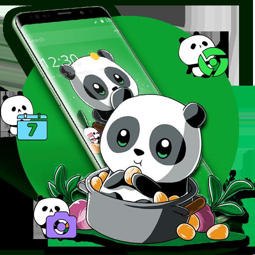 Cute Anime Green Panda Theme Download Latest Version APK