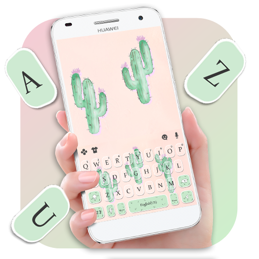 Cute Cartoon Cactus Keyboard Theme Download Latest Version APK