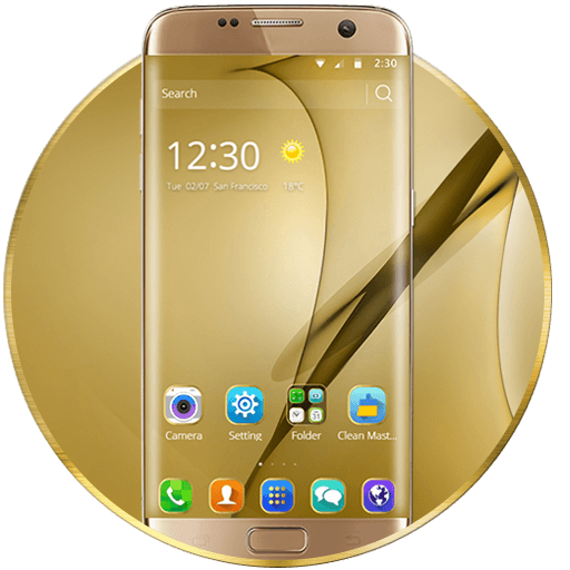 Gold Theme for Galaxy S8 Plus Download Latest Version APK