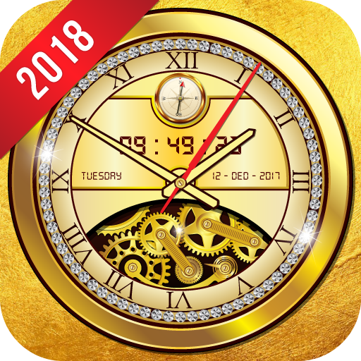 Golden Clock live wallpaper 2018 Gold Glitter Free Download Latest Version APK