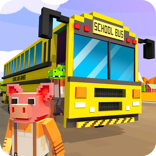 Mr. Blocky School Bus Driver: American Highschool Download Latest Version APK