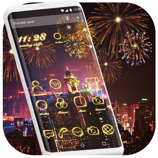 Neon Light Theme – Fire Flowers Theme 2018 Download Latest Version APK