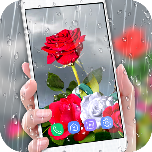 Rose Live Wallpaper 2018 with Waterdrops Download Latest Version APK