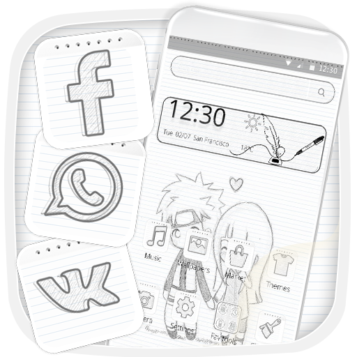 Simple Cute Sketch Cartoon Theme Download Latest Version APK