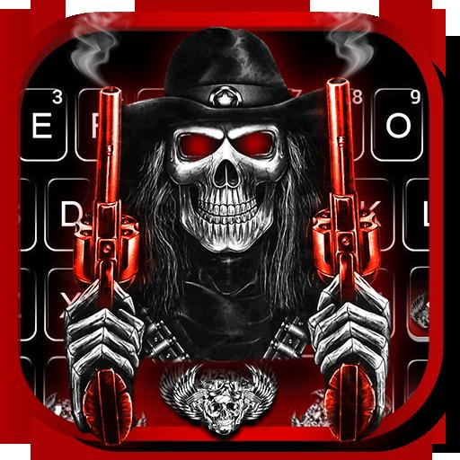 Skull Fire Guns Keyboard Theme Download Latest Version APK