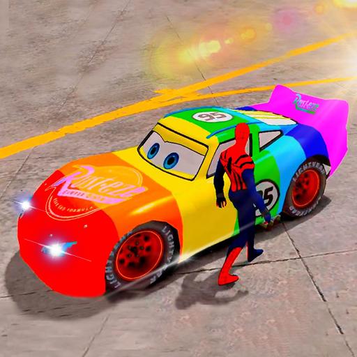 Superhero League Lightning Car Stunts Download Latest Version APK