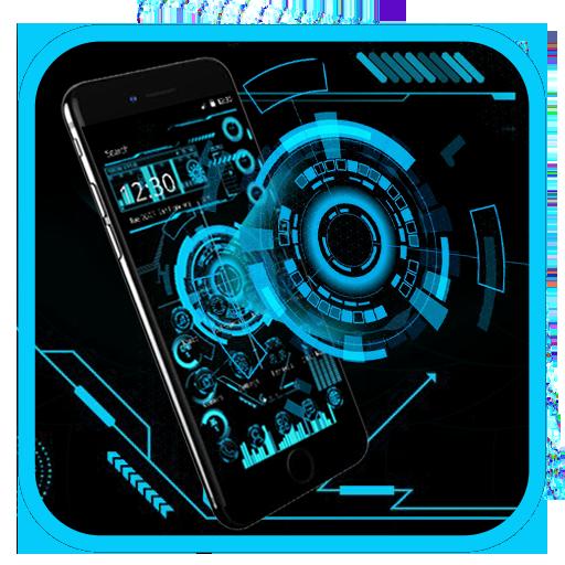 Technology Neon Blue Download Latest Version APK