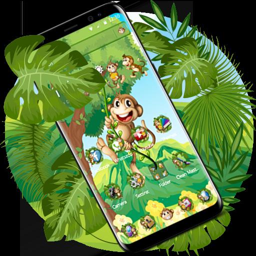 The Cute Cartoon Monkey Theme Download Latest Version APK