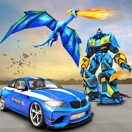 US Police Transform Robot Car Fire Dragon Fight Download Latest Version APK