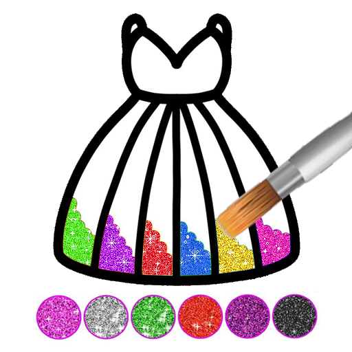 Glitter dress coloring and drawing book for Kids Download Latest Version APK