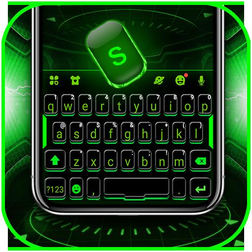 Green Neon Tech Keyboard Theme Download Latest Version APK