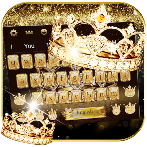 Gold diamond crown Keyboard Theme Download Latest Version APK