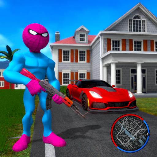 Spider Stickman Rope Hero Open World City Gangster Download Latest Version APK