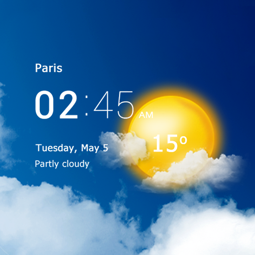 Transparent clock and weather – forecast and radar Download Latest Version APK